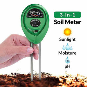 Soil pH Tester, Light & Moisture Meter for Plants 3 in 1
