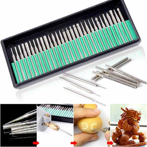 Diamond Burr Bits Kit for Engraving Carving Rotary Tool Set
