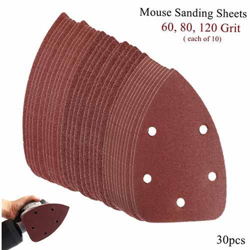 Mouse Sander Pads 5 Holes 100x140x140mm 10Pcs