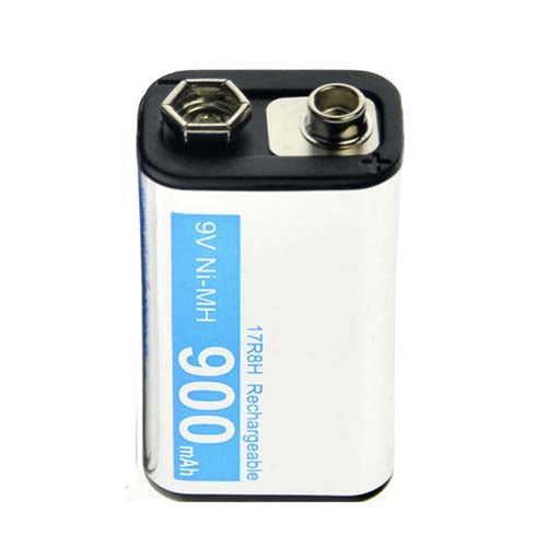 NiMH 9V 900mAh Rechargeable Battery