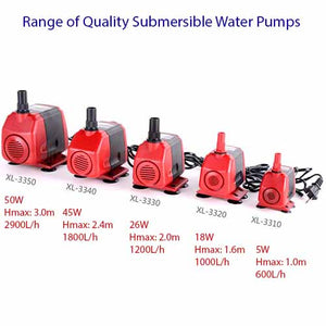 Aquarium Water Pumps (Submersible) for Fish Tank & Ponds
