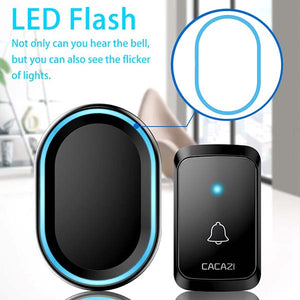 CACAZI A80 Cordless Doorbell Plug-in Remote Bell