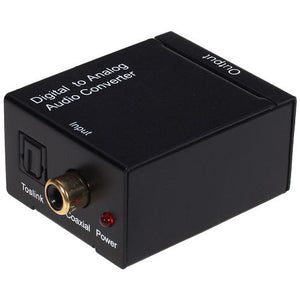 Digital Optical Coaxial Toslink to Analog L / R Audio Converter