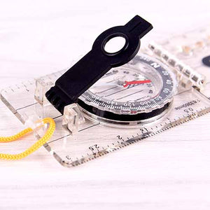 Multifunctional Folding Baseplate Ruler Compass