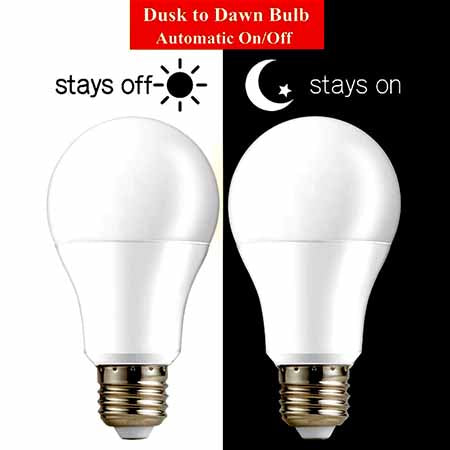 Night Time Auto ON & OFF LED Sensor Bulb 10/15W