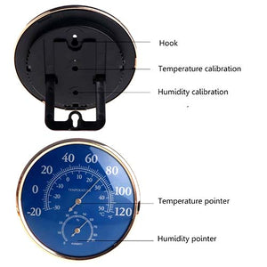 Large Round 130mm Analog Thermometer Hygrometer Meter
