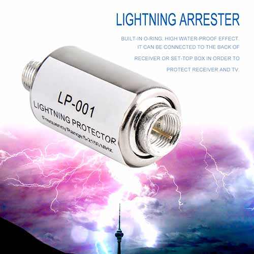 Lighting Protection/Arrester for Coaxial Satellite TV Antenna 5-2150MHz