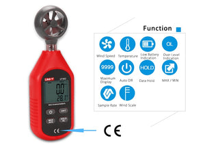 UNI-T UT363 CFM Air Wind Speed Meter / Anemometer