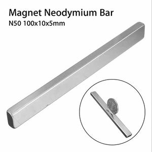 Neodymium Block Magnet Bar / Strip 100x10x5mm