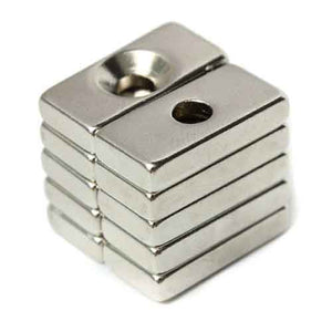 Neodymium Magnet N42 20x10x3mm with 4mm Hole