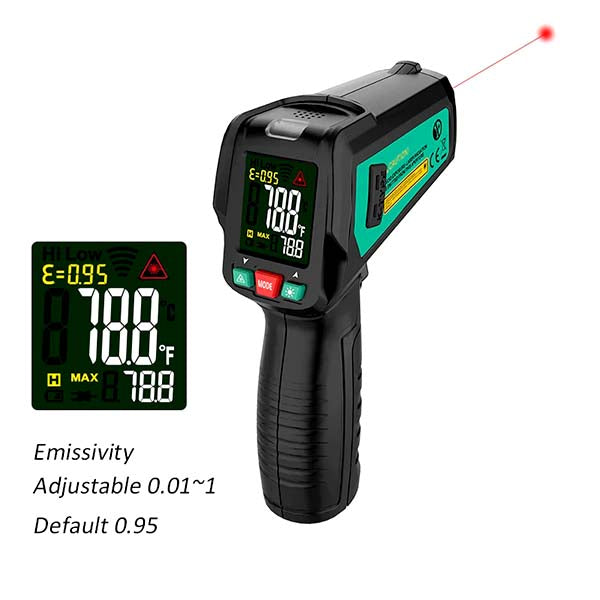 Fuyi FY580K IR Non-Contact Thermometer with K Probe