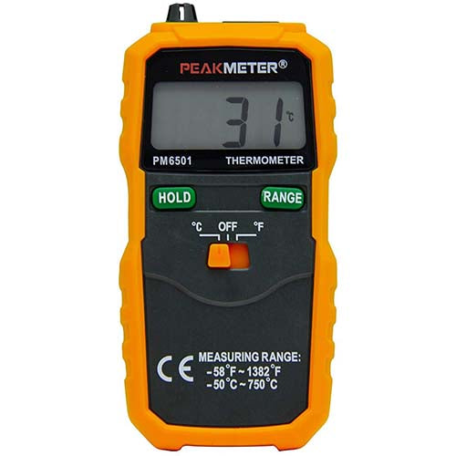PEAKMETER Digital Instant-Read Thermometer with Type K Thermocouple