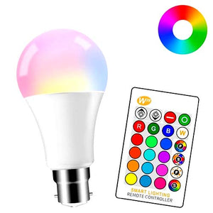 IR Remote Control RGB + White 16 Color LED Bulb