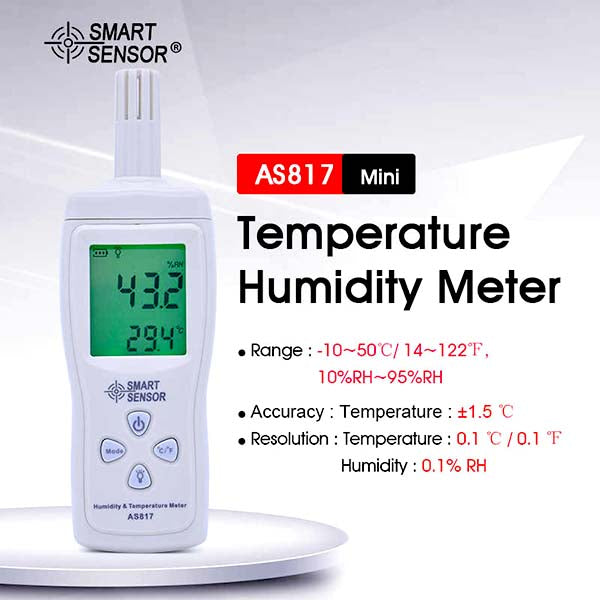 SMART SENSOR Digital Temperature & Humidity Meter