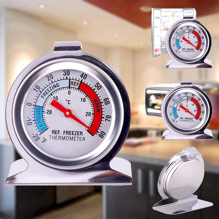 Stainless Steel Refrigerator / Freezer Thermometer