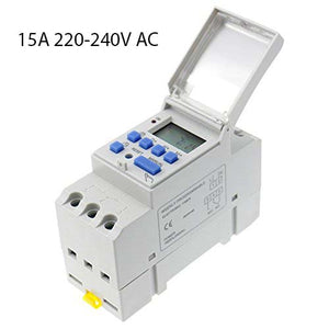 Din Rail Mounted Programmable Timer Switch 16A/30A AC