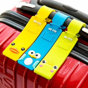 Luggage Tag for Travel & Kids Bags Made From Silicone Rubber