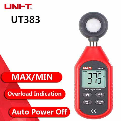 Uni-T UT383 Digital Light Meter, Photometer
