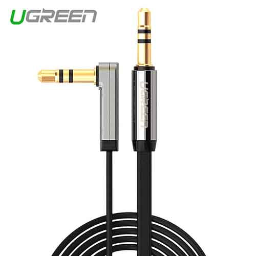 UGREEN 3.5mm Audio Cable Right Angle Aux Flat Cable