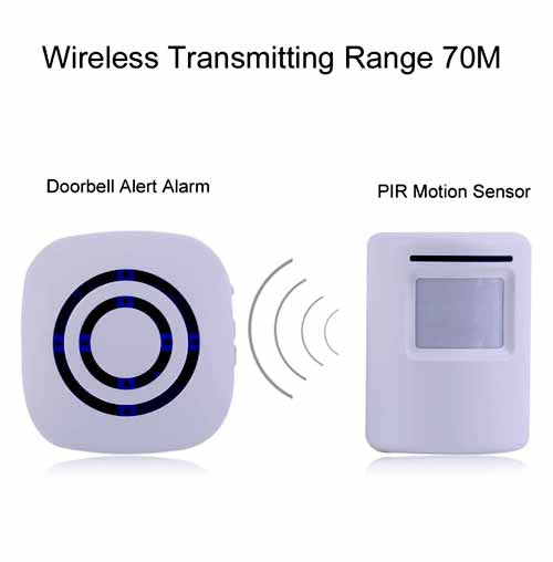 Wireless PIR Motion Sensor Doorbell Alert