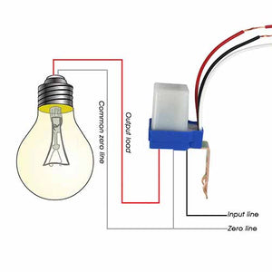 Auto On Off Photocell Light Sensor Switch