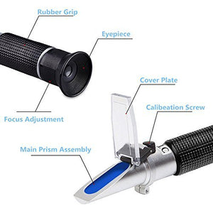 Brix Refractometer 0-32% Specific Gravity Hydrometer with ATC