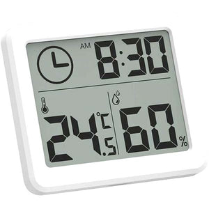 Indoor Clocks with Temperature & Humidity Meter