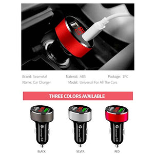 QC3.0 Fast Charger Lighter Socket with Voltage Display