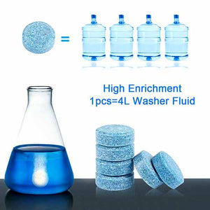 Instant Windshield Washer Fluid Concentrated, 1 Tablet Makes 4 Lt