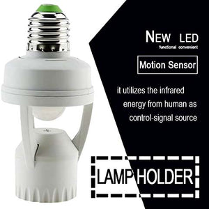 Motion Sensor Automatic Light Holder Switch
