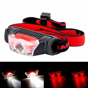Mini Head Torch, Bright 1x AA Battery Headlight