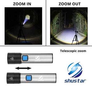 Rechargeable LED Torch with T6 LED 1200mAh Lithium Battery