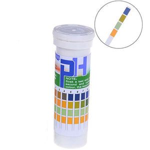 Premium pH Test Strips, 1 - 14.0 pH Vial of 150Pcs