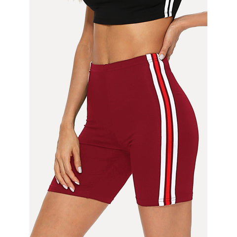 Striped Tape Side Legging Shorts