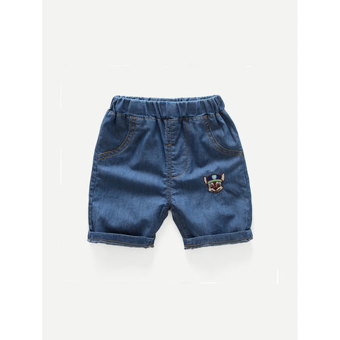 Kids Roll Hem Denim Shorts