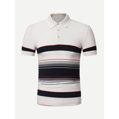 Men Striped Polo Shirt