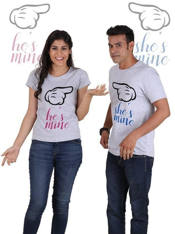 He is Mine, She is Mine Couple T-Shirts