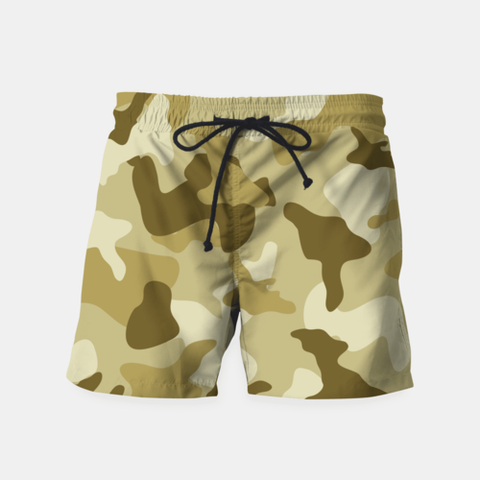 Men's Shorts Yellow Sand Camouflage Army Pattern