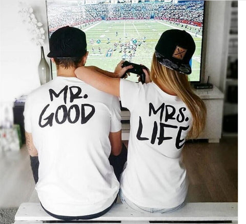 Mr Mrs GOOD LIFE T Shirt