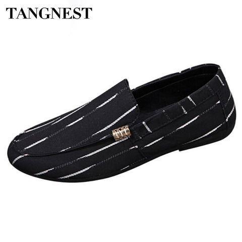 New Korean  Men Canvas Shoes Breathable Loafers