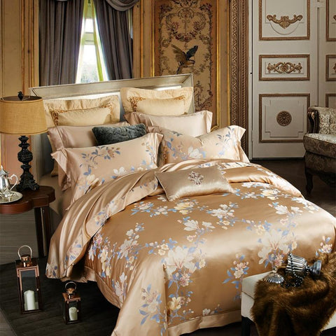 1500TC Golden Mulberry Silk Comforter Set