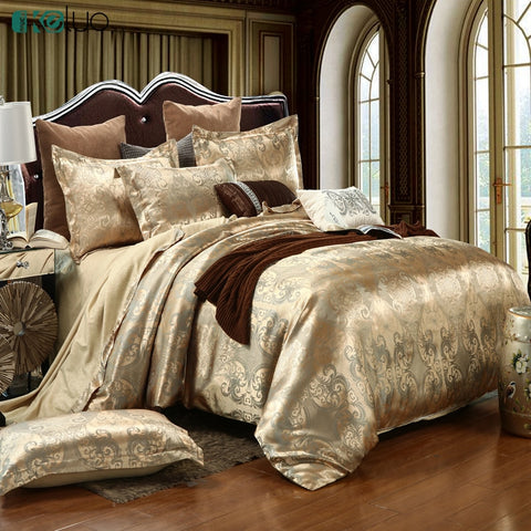 Luxury Bedding Sets Jacquard Queen/King Size Duvet Cover Set
