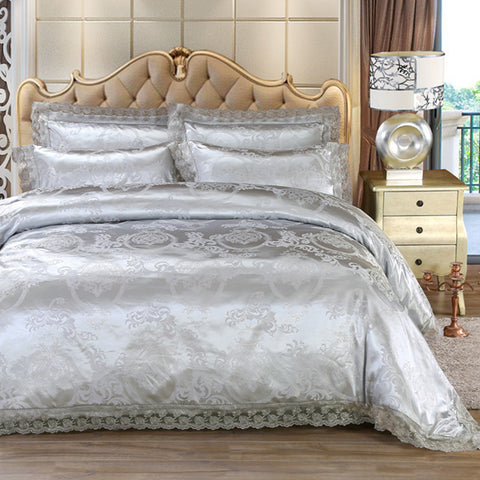 Jacquard Lace Duvet Cover Set