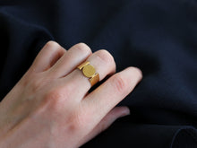 18k gold plated recycled sterling silver ring
