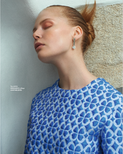 Danish design  Dot earring in a shoot for Elle magazine