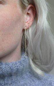 Chain it. Sustainable earring matched with a knitted jumper
