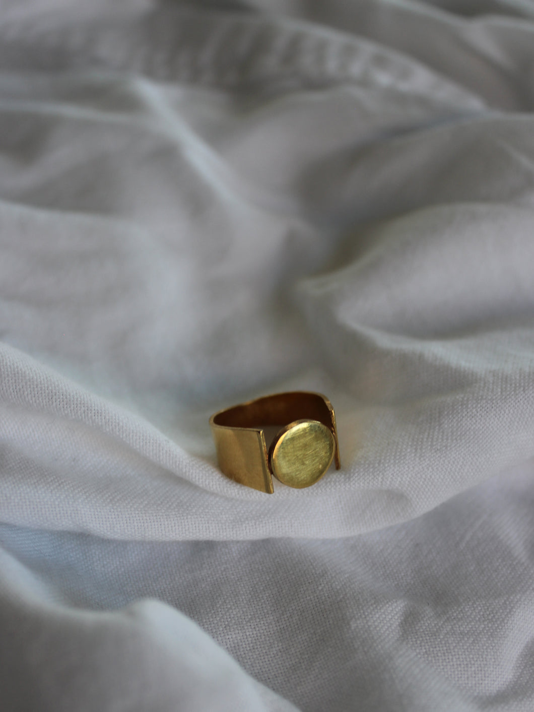 sustainable brick c handmade gold ring