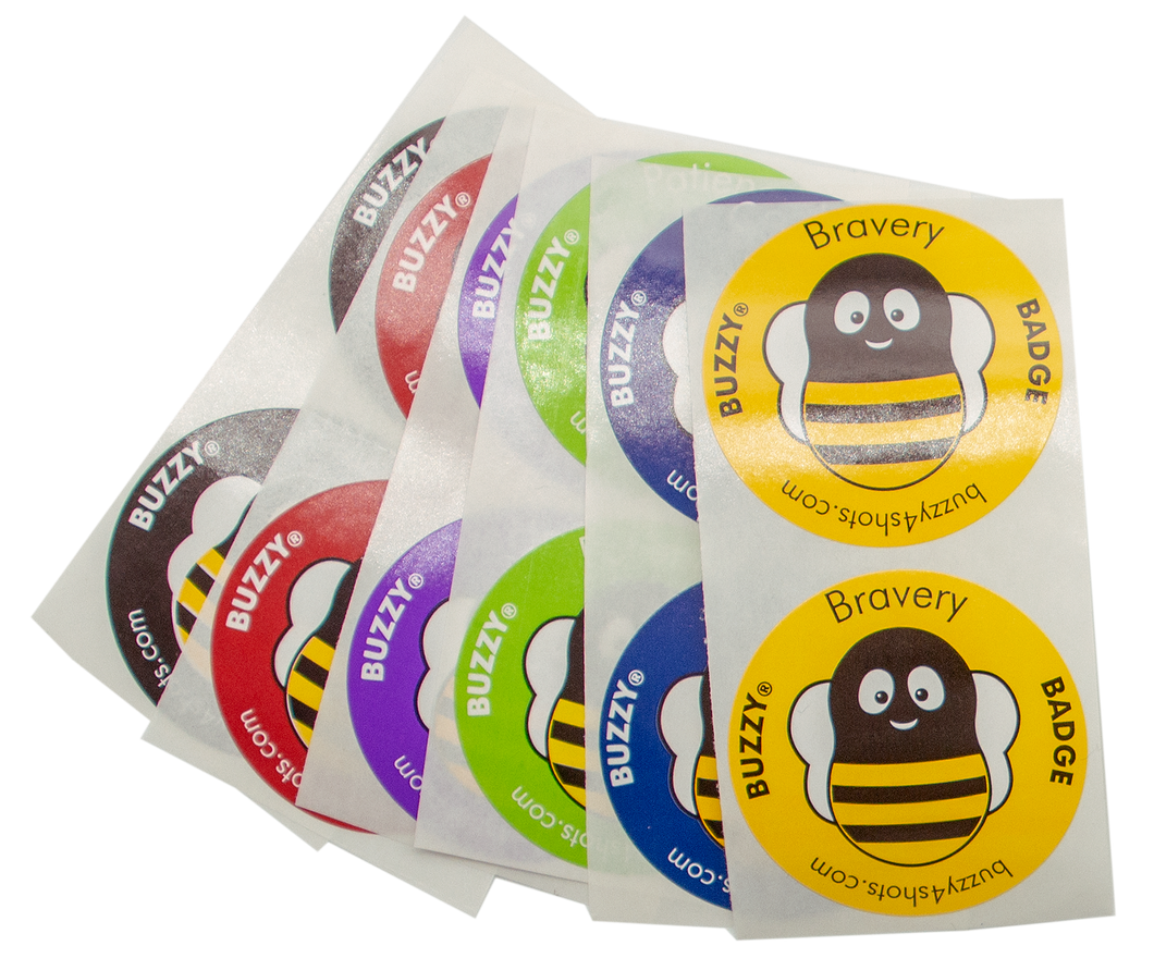 Buzzy® Bravery Badges (100 Pack Assorted)