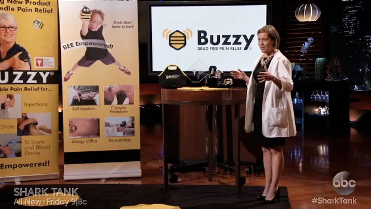 Amy Baxter and Buzzy on Shark Tank