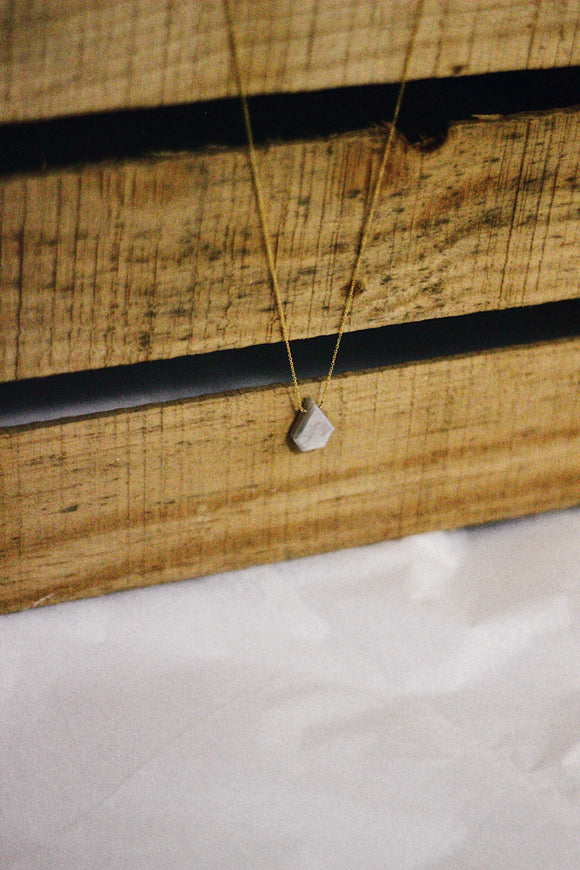 Geo Drop Stone Necklace